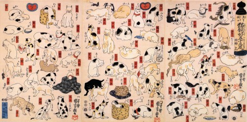 Cats_suggested_as_the_fifty-three_stations_of_the_Tokaido